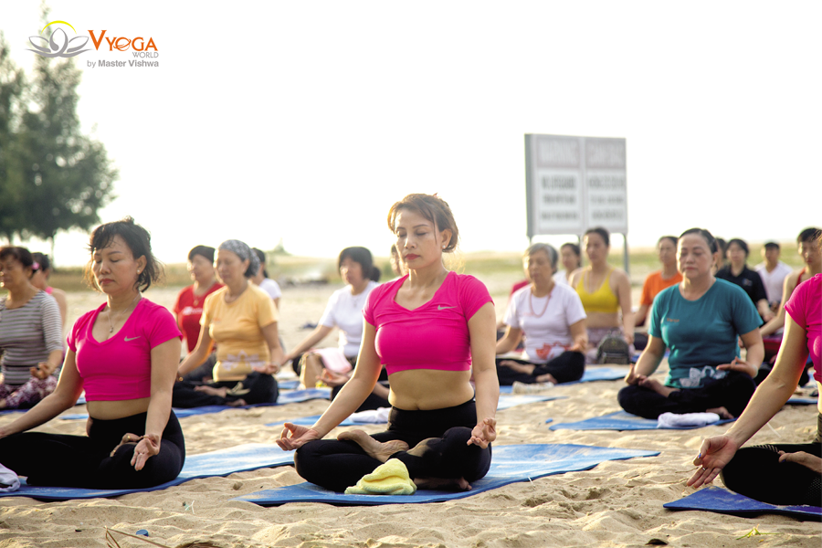 Yoga Dã Ngoại Ngoài Trời - Hồ Tràm Beach 2018