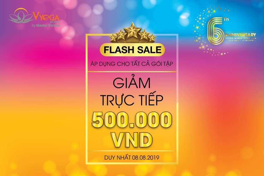 flash sale tại Vyoga World