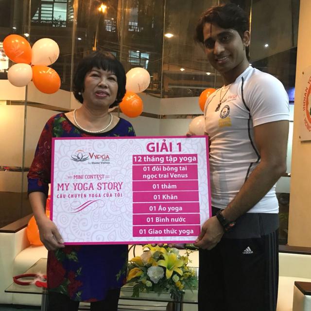 trao giải cuộc thi my yoga story